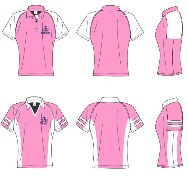 Pink company shirts artee shirt for Polo shirts for printing